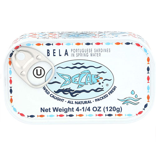 BELA SARDINES SPRING WATER 4.25oz.