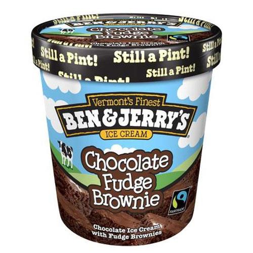 BEN JERRYS ICE CREAM CHOCOLATE FUDGE BROWNIE 1pt