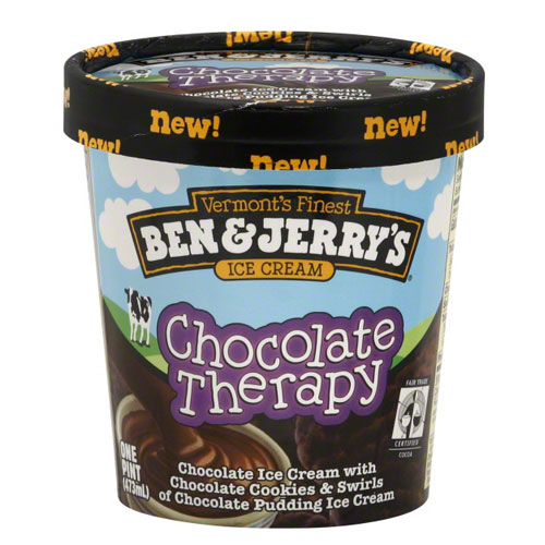 BEN JERRYS ICE CREAM CHOCOLATE THERAPY 1pt