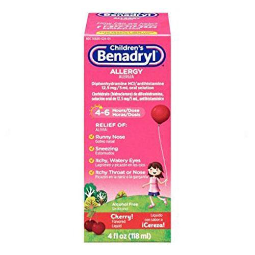 BENADRYL ALLERGY CHILDREN CHERRY FLAVOR 4oz