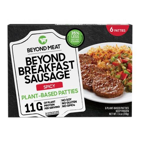 BEYOND MEAT PLANT BASED PATTIES BREAKFAST SAUSAGE SPICY 7.4oz 6PK