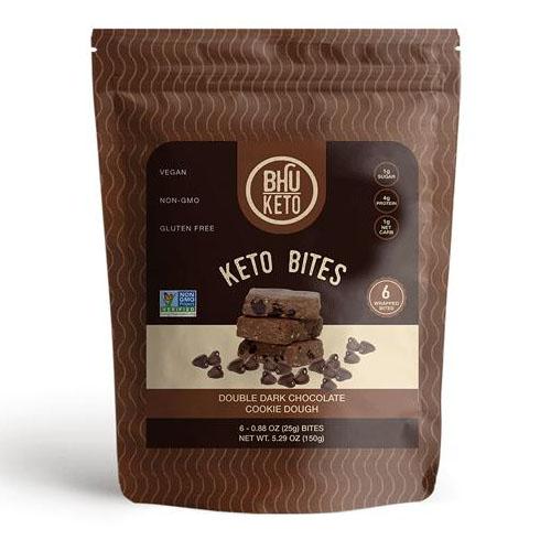 BHU FOODS KETO PROTEIN BITES DOUBEL DARK CHOCOLATE COOKIE DOUGH 5.29oz