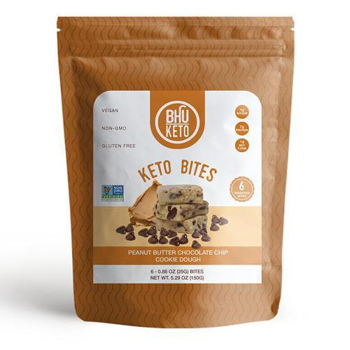 BHU FOODS KETO PROTEIN BITES PEANUT BUTTER CHOCOLATE CHIP COOKIE DOUGH 5.29oz