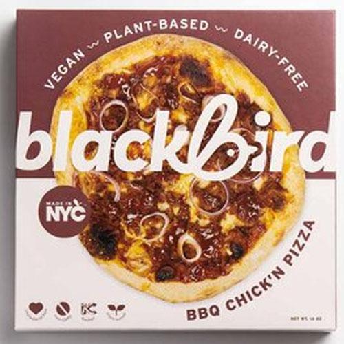 BLACKBIRD FOODS VEGAN PLANT BASED DAIR FREE PIZZA BBQ CHICKEN 14oz