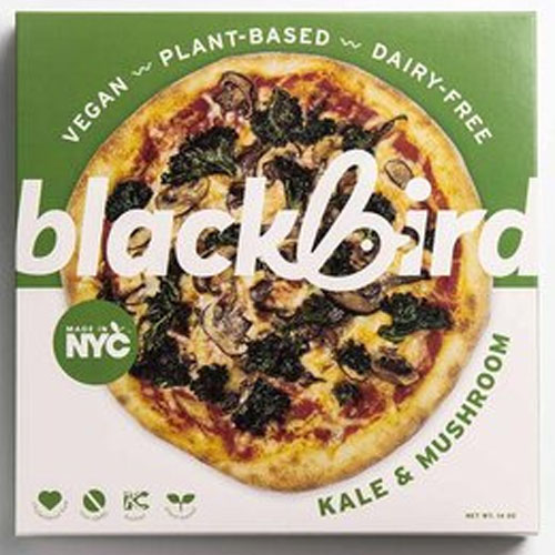 BLACKBIRD FOODS VEGAN PLANT BASED DAIR FREE PIZZA KALE MUSHROOM 14oz