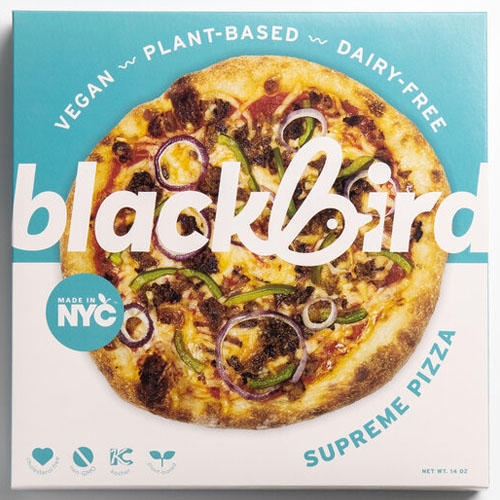 BLACKBIRD FOODS VEGAN PLANT BASED DAIR FREE PIZZA SUPREME 14oz
