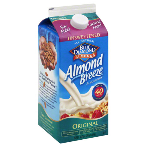 BLUE DIAMOND NON-DAIRY ALMOND MILK ORIGINAL UNSWEETENED 64oz.