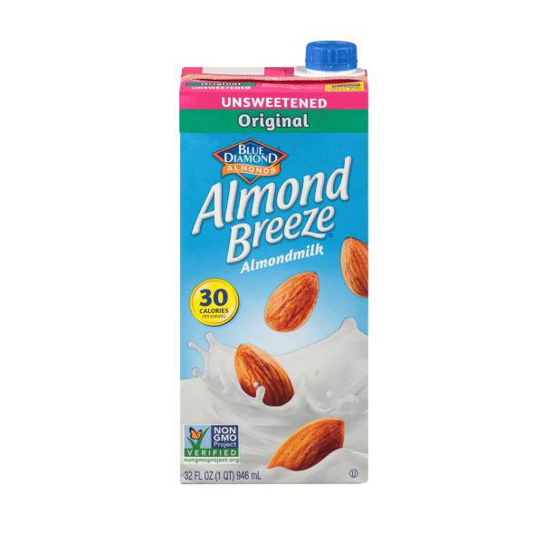 BLUE DIAMOND ALMOND MILK UNSWEETENED ORIGINAL 32oz