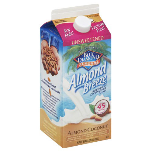 BLUE DIAMOND NON-DAIRY ALMOND COCONUT MILK UNSWEETENED 64oz.