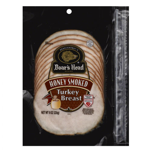 BOAR'S HEAD HONEY SMOKED TURKEY BREAST 8oz