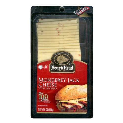 BOAR'S HEAD SLICED CHEESE JALAPENO PEPPER JACK 8oz.