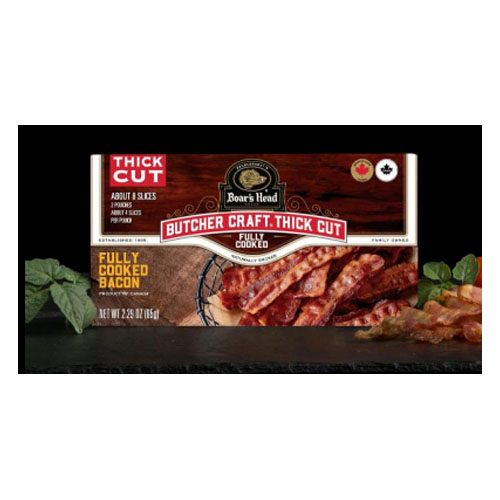 BOAR'S HEAD TRADITIONAL FULLY COOKED BACON 2.29oz