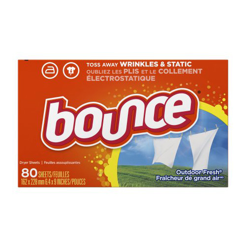 BOUNCE DRYER SHEETS OUTDOOR FRESH 80pc
