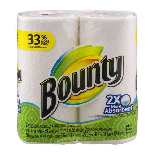 BOUNTY PAPER TOWEL 138 2-PLY SHEETS 2PK