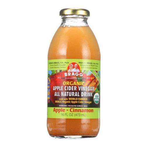 BRAGG ORGANIC APPLE CIDER DRINK APPLE CINNAMON 16oz