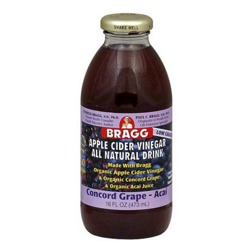 BRAGG ORGANIC APPLE CIDER DRINK CONCORD GRAPE 16oz
