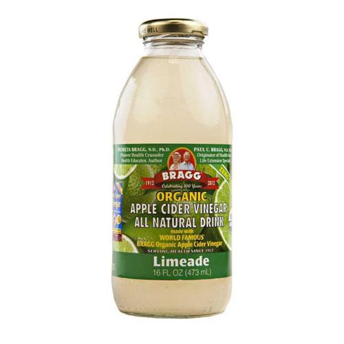 BRAGG ORGANIC APPLE CIDER DRINK LIMEADE 16oz