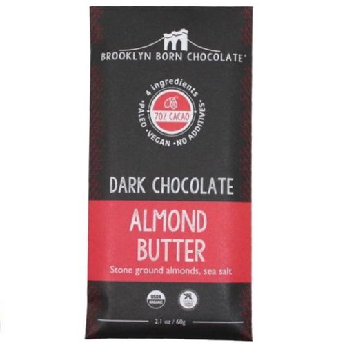BROOKLYN BORN CHOCOLATE VEGAN PALEO DARK CHOCO ALMOND BUTTER 2.1oz