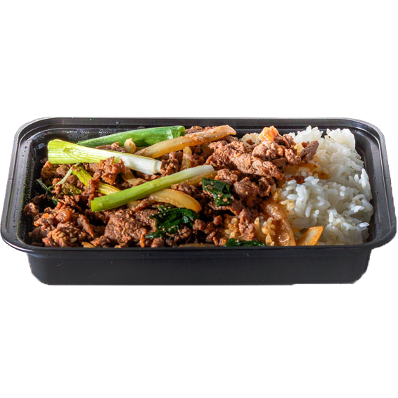 Bul-go-gi- Dup Bap (Korean-style marinated sliced rib-eye steak over white rice )