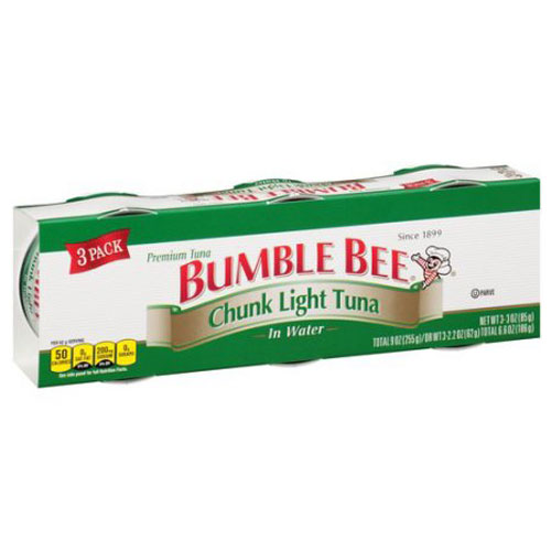 BUMBLE BEE CHUNK LIGHT TUNA IN WATER 9oz