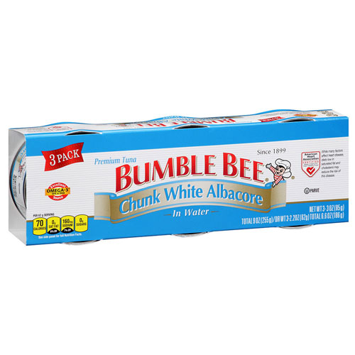 BUMBLE BEE CHUNK WHITE ALBACORE IN WATER 9oz