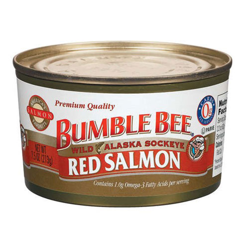 BUMBLE BEE RED SALMON 7.5oz