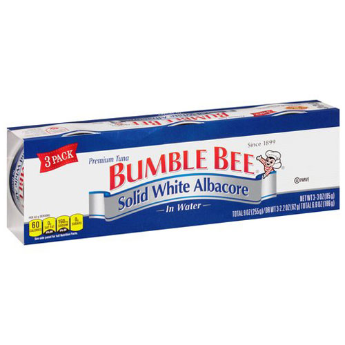 BUMBLE BEE SOLID WHITE ALBACORE IN WATER 9oz