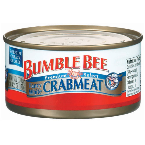 BUMBLE BEE WHITE CRAB MEAT 6oz