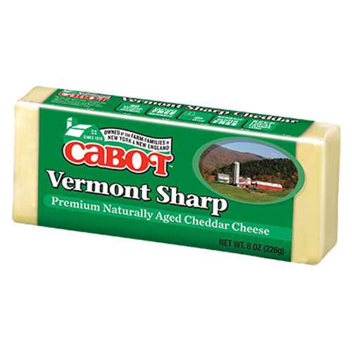 CABOT CHEESE BLOCK VERMONT SHARP WHITE 8oz.