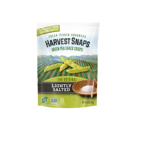 CALBEE HARVEST SNAPS GREEN PEA LIGHTLY SALTED 3.3oz.