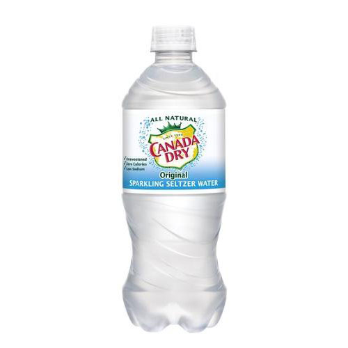 CANADA DRY SPARKLING SELTZER WATER 20oz