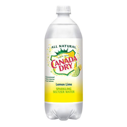 CANADA DRY SPARKLING SELTZER WATER LEMON LIME 1L