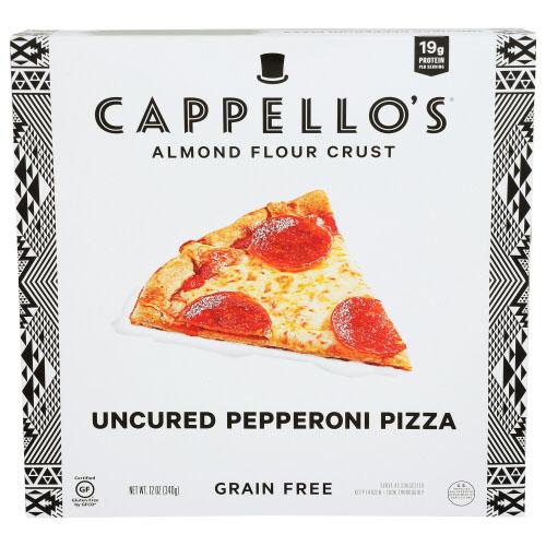 CAPPELLO'S ALMOND FLOUR CRUST GRAIN FREE UNCURED PEPPERONI PIZZA 12oz
