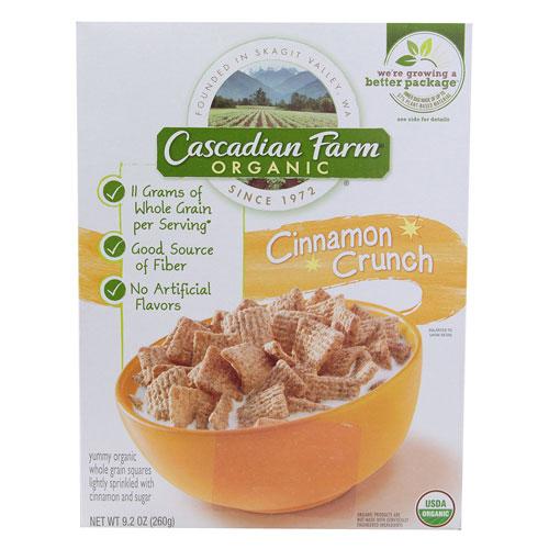 CASCADIAN FARM CEREAL CINNAMON CRUNCH 9.2oz