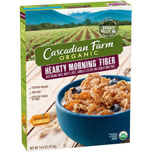 CASCADIAN FARM CEREAL HEARTY MORNING FIBER 14.6oz