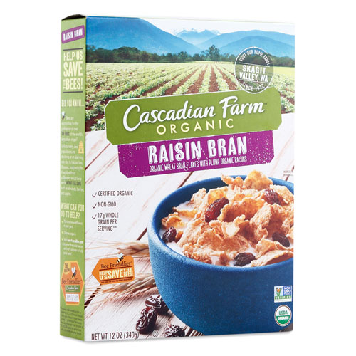 CASCADIAN FARM CEREAL RAISIN BRAN 12oz