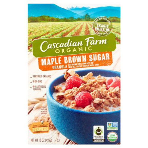 CASCADIAN FARM ORGANIC GRANOLA MAPLE BROWN SUGAR 15oz