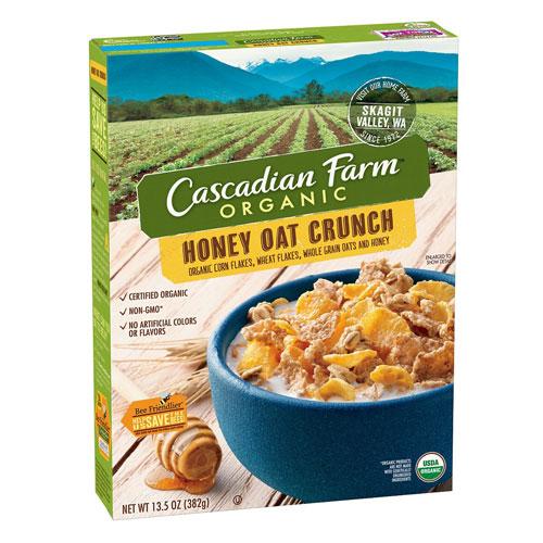 CASCADIAN FARM CEREAL HONEY OAT CRUNCH 13.5oz