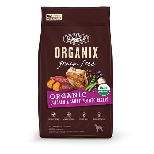 CASTOR & POLLUX GRAIN FREE ORGANIX DRY DOG FOOD CHICKEN & SWEET POTATO RECIPE 4lb