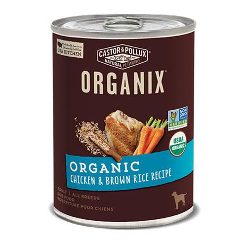 CASTOR & POLLUX ORGANIX DOG FOOD CHICKEN & BROWN RICE RECIPE 12.7oz