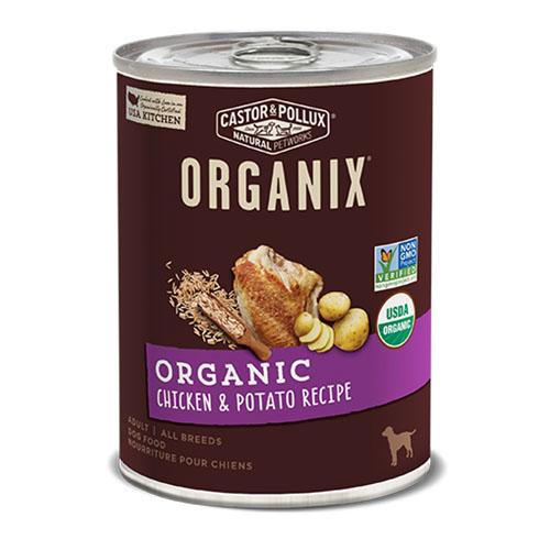 CASTOR & POLLUX ORGANIX DOG FOOD CHICKEN & POTATO RECIPE 12.7oz
