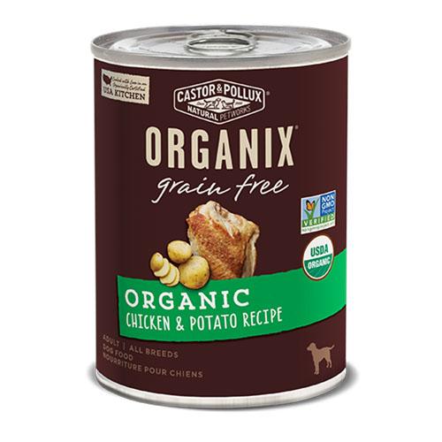 CASTOR & POLLUX ORGANIX DOG FOOD GRAIN FREE CHICKEN & POTATO RECIPE 12.7oz