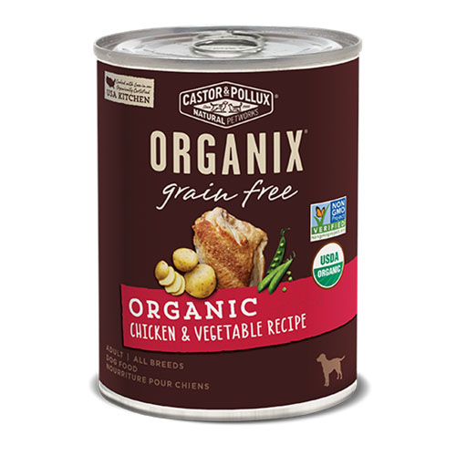 CASTOR & POLLUX ORGANIX DOG FOOD GRAIN FREE CHICKEN & VEGETABLE RECIPE 12.7oz