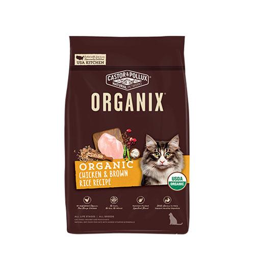 CASTOR & POLLUX ORGANIX DRY CAT FOOD CHICKEN & BROWN RICE RECIPE 3lb