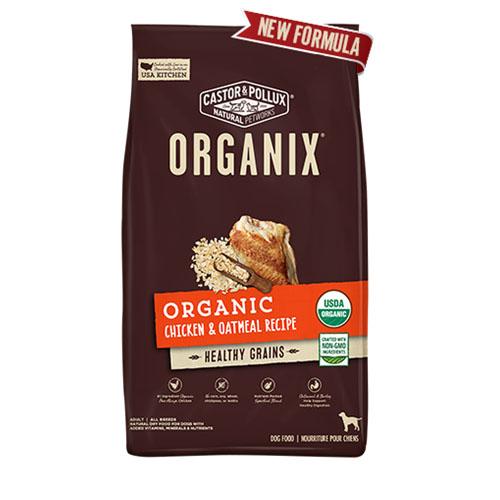 CASTOR & POLLUX ORGANIX DRY DOG FOOD CHCIKEN & OATMEAL RECIPE 4lb