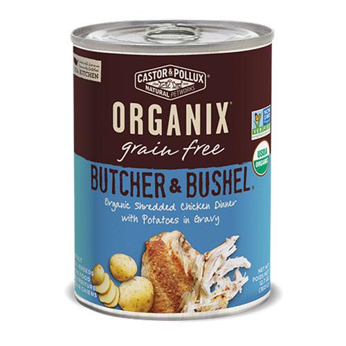 CASTOR & POLLUX ORGANIX GRAIN FREE DOG FOOD BUTCHER &BUSHEL CHICKEN DINNER 12.7oz