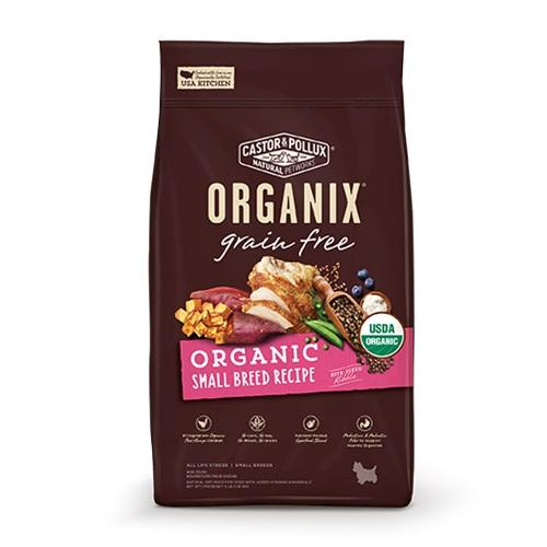 CASTOR & POLLUX ORGANIX GRAIN FREE DRY DOG FOOD SMALL BREED RECIPE 4lb