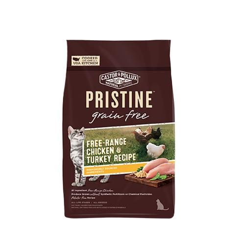CASTOR & POLLUX PRISTINE GRAIN FREE DRY CAT FOOD CHICKEN & TURKEY RECIPE 3lb