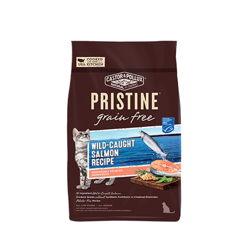 CASTOR & POLLUX PRISTINE GRAIN FREE DRY CAT FOOD WILD CAUGHT SALMON RECIPE 3lb