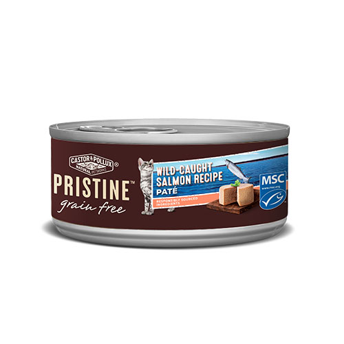 CASTOR&POLLUX PRISTINE GRAIN FREE CAT FOOD WILD CAUGHT SALMON 3oz